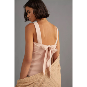 Anthropologie NWT Maeve Tie-Back Tank Size S Peach Color